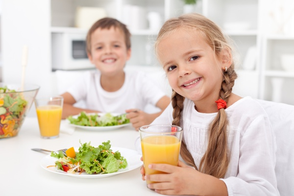 If you ever have kids that are all smiles while eating a salad, please share with us your secret!