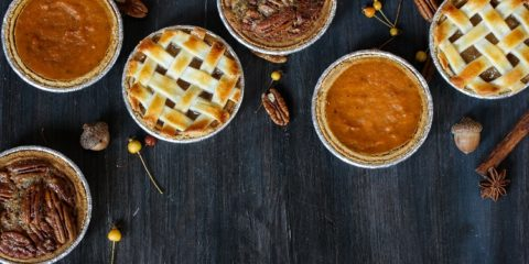 apple pie pumpkin pie and Pecan pie
