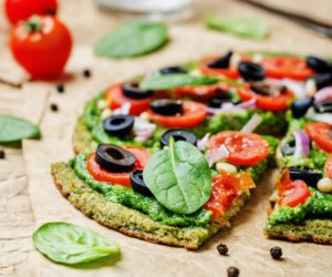 spinach pizza crust