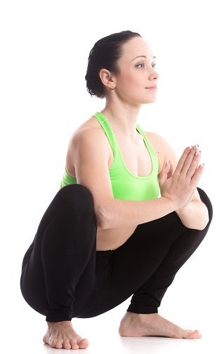 Garland yoga Pose
